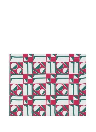 La Doublej La Doublej Rosa Geometrik Desenli 2li Keten Amerikan Servis 101388081 Pembe